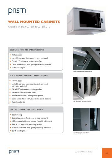 WALL MOUNTED CABINETS - Comms Express