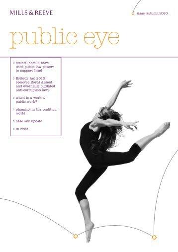 Public Eye - Autumn 2010 - Mills & Reeve