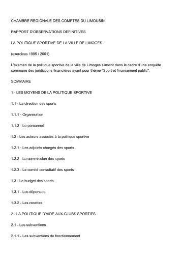 Rapport d'observations définitives (PDF, 164,47 ... - Cour des comptes