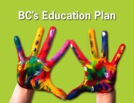 BC's Education Plan - School District 51