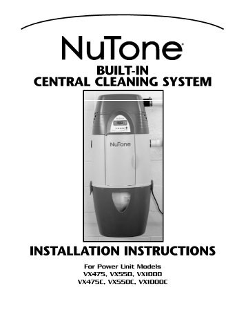 Nutone Cv 450w Troubleshooting - Manual Guide Example 2018 •