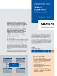 SIPAPER Reject Power - Siemens Industry, Inc.