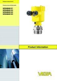 Product Information VEGABAR 61 / VEGABAR 63 ... - Insatech