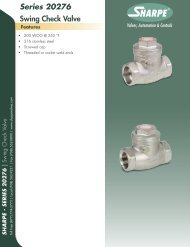 Series 20276 Swing Check Valve - Sharpe® Valves