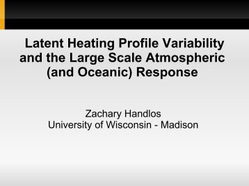 Latent Heating Profile Variability and the Large Scale Atmospheric ...