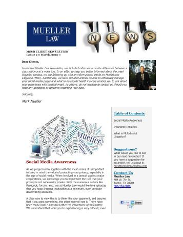 mesh client newsletter - Mueller Law
