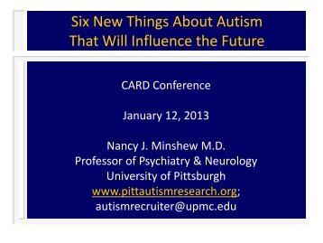Six New Things About Autism That Will Influence the Future