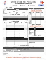 Promotional Forms - USJF Form 20 - United States Judo Federation