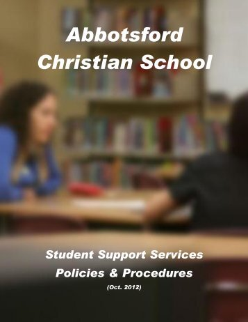 Policies and Procedures for Student Support Services - Abbotsford ...