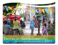 2011 Sustainability in Action Report - City of Charlottetown