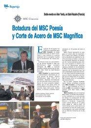 Botadura del MSC Poesía y Corte de Acero de MSC ... - TAT Revista