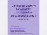 L'analisi dei cluster e l'analisi delle concatenazioni probabilistiche di ...