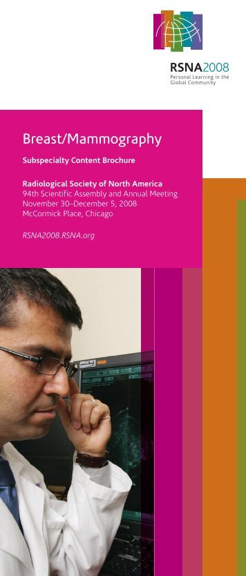 Breast / Mammography - RSNA 2008 - Radiological Society of North ...