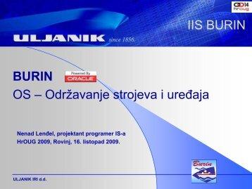 IIS Burin - HrOUG
