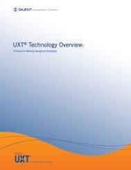 UXT® Technology Overview: - Salient