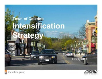 Intensification Strategy - Town of Caledon