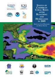 Status of Caribbean coral reefs after bleaching and hurricanes in 2005
