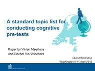 A standard topic list for conducting cognitive pre-tests