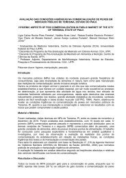 AVALIAÇÃO DAS CONDIÇÕES HIGIÊNICAS NA ... - SOVERGS