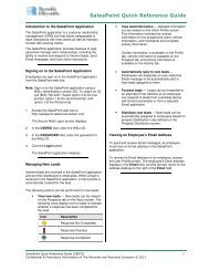 SalesPoint Quick Reference Guide - Reynolds & Reynolds Contact ...