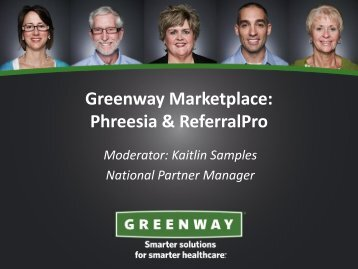Greenway Marketplace - Greenway Medical Technologies