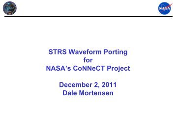 STRS Waveform Porting for NASA's CoNNeCT Project