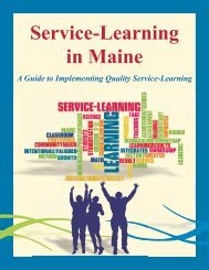 Service-Learning in Maine - A Guide to Quality Service-Learning