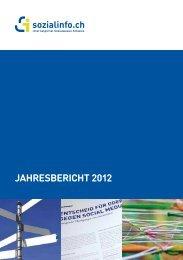 WEB jahresbericht 2012-1 - Sozialinfo.ch