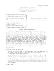 Exemption Letter - Soaring Society of America