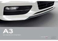 Audi Α3 / A3 Sportback Φυλλάδιο Γνήσιων Αξεσουάρ 09-2012 (14 MB)