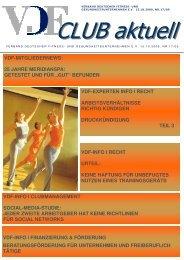 VDF aktuell Nr. 17, 15.10.09 - Hier entsteht eine neue Internetpräsenz