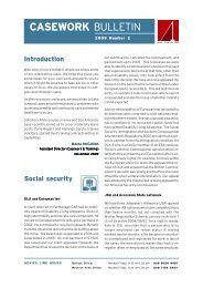 Casework Bulletin 2009 Number 2 - Law Centre NI