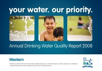 Quality Report 2008 - Western - Toho Water Authority