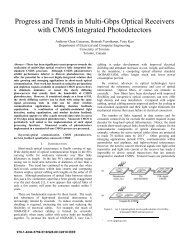 Progress and Trends in Multi-Gbps Optical Receivers with CMOS ...
