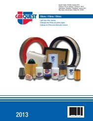 CFI/RFI - CARQUEST Light Duty Filter Catalog