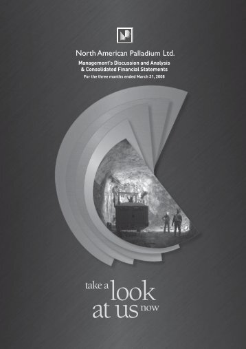 First Quarter (PDF 925 KB) - North American Palladium
