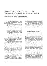 Managementul dezechilibrelor sistemice induse de trauma multipla