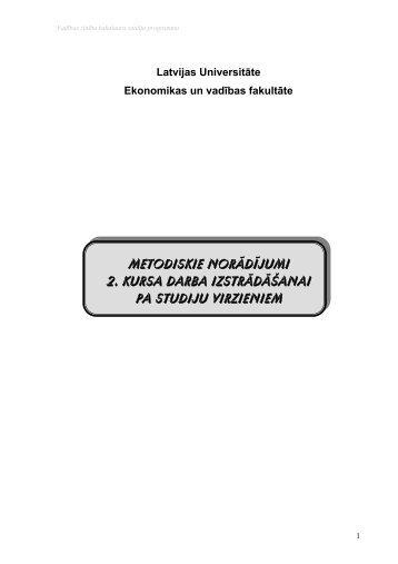metodiskie norādījumi 2. kursa darba izstrādāšanai pa studiju ...