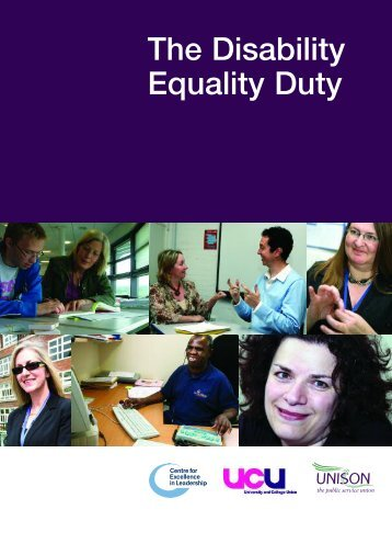 The Disability Equality Duty - UCU