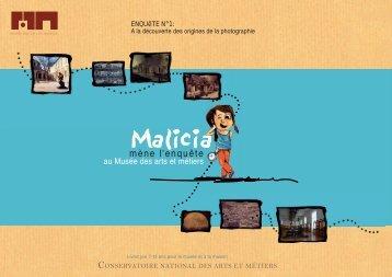 pdf : Livret jeu Malicia - Musée des arts et métiers