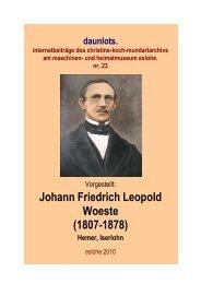 Johann Friedrich Leopold Woeste - Christine Koch Mundartarchiv