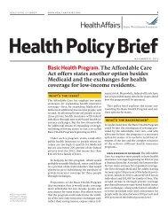 new policy brief - Health Reform GPS