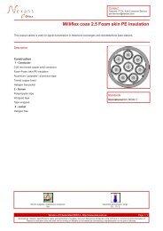Milliflex coax 2.5 Foam skin PE insulation - Olex