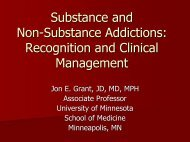Substance and Non-Substance Addictions - University of Minnesota ...