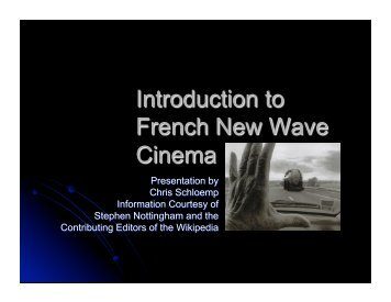 Introduction to French New Wave Cinema