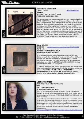 CD/LP - Tuba Records