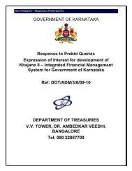 KhajaneIIEOI-PrebidClarification - Government of Karnataka