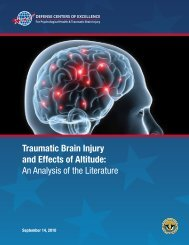 Traumatic Brain Injury and Effects of Altitude - Human Performance ...