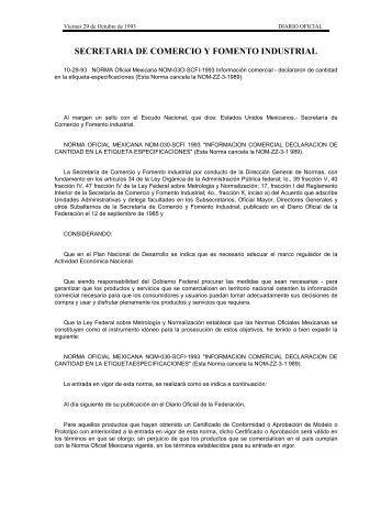 43. norma oficial mexicana nom-030-scfi-1993 - Mercado-ideal
