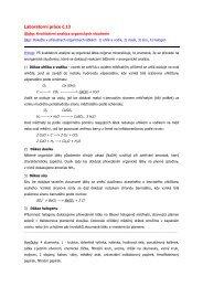 Organická analýza - Chemie na GJO